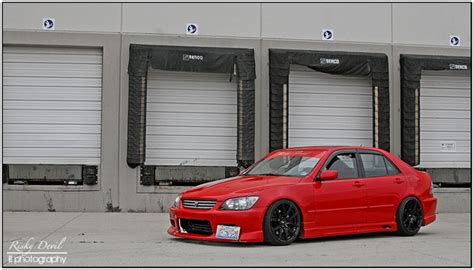 lexus is300 red lexus is300 red risky devil 2 rides styling