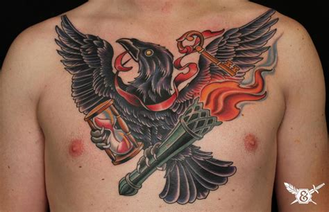 raven chest tattoo worldwide conference tattoos russ abbott