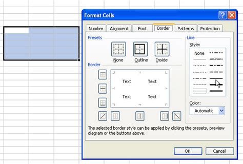 Format Excel Borders   formatting borders in microsoft excel