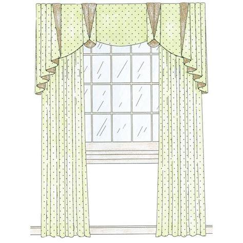 cascading curtains cascade valance