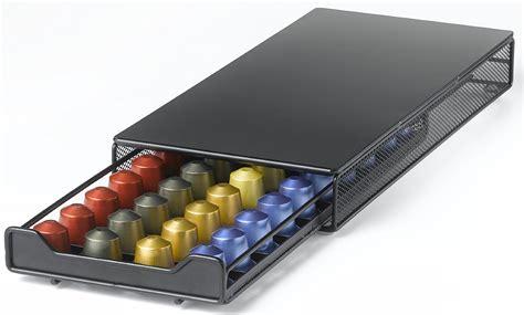 nifty nespresso capsule drawer holds 40 nespresso capsules