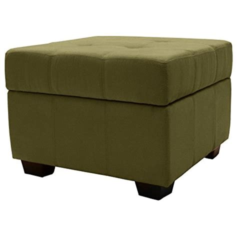 Epic Furnishings Microfiber Upholstered Tufted Padded Square Tufted Storage Ottoman