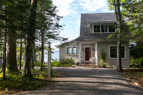 spruce point cottage traditional exterior portland