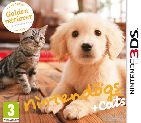 nintendogs plus cats golden retriever nintendogs cats golden retriever ses nouveaux amis nintendo 3ds jeux nintendo