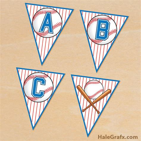 Free Printable Baseball Alphabet Banner Pack | free printable baseball alphabet banner pack