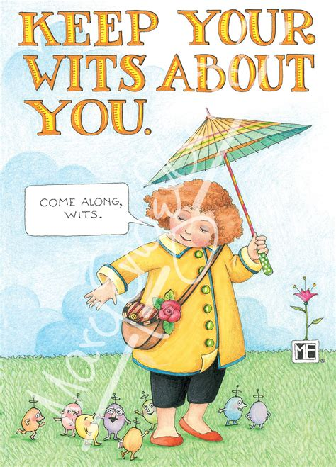 5 Wits Gift Card - keep your wits about you greeting card mary engelbreit