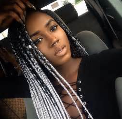 black to grey ombre box braids hairstyles box braids hairstyles photos inspiration