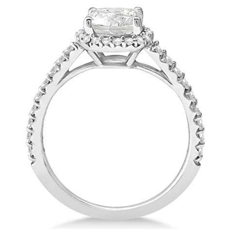 cushion cut halo engagement ring in platinum halo design cushion cut engagement ring platinum 0