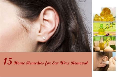 home remedies  ear wax removal   work
