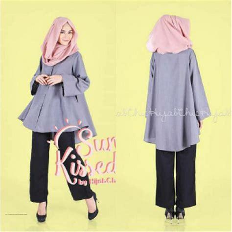 Helbi Tunik Baju Wanita Atasan Model Busana Muslim Modern 2014 Pusat Gamis Terbaru Balimo