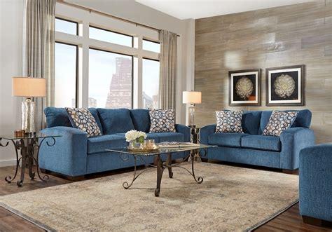 lucan navy  pc living room living room sets blue