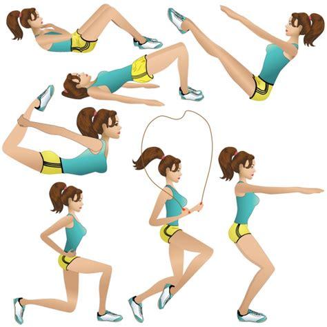 imagenes de calaveras haciendo ejercicio dise 241 os de chica haciendo ejercicios descargar vectores