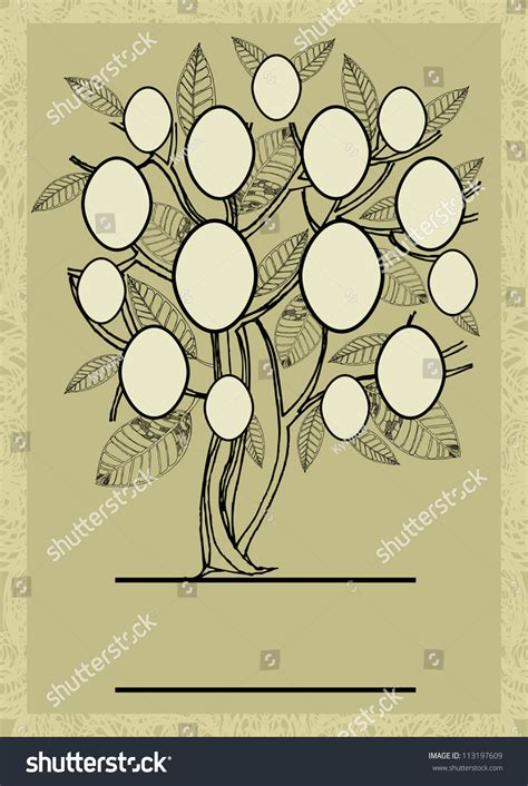 Vector Family Tree Design Frames Autumn Stock Vector 113197609 Shutterstock Vector Family Tree Design With Frames And Autumn Leafs Place For Text