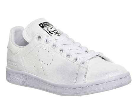 shop for raf simons shoes adidas unisex raf x stan smith aged white buy at revolutionsurf co