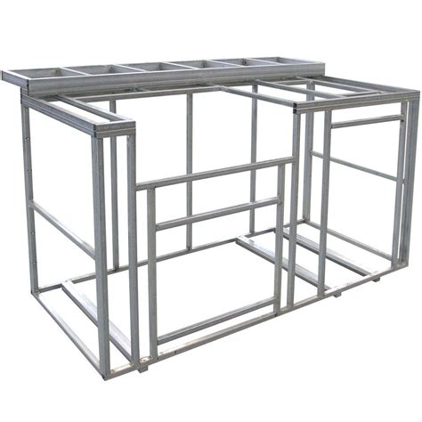 Cal Flame 6 Ft Outdoor Kitchen Island Frame Kit With Outdoor Kitchen Frame Kit