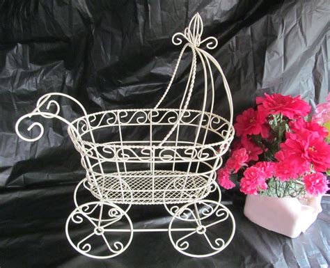 Baby Carriage Decorations by Lacy Wire Baby Carriage Baby Buggy Table Center Decoration Baby Shower Decorations