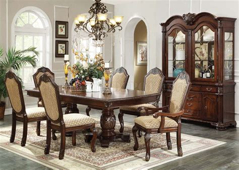 64075 chateau de ville dining table espresso by acme w options