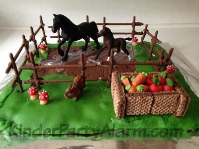 kuchen kindergeburtstag pferd pferdekoppel kuchen