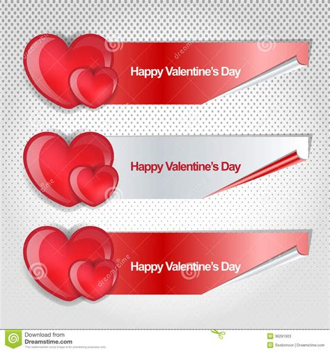 day banner happy valentines day modren banner stock photos image