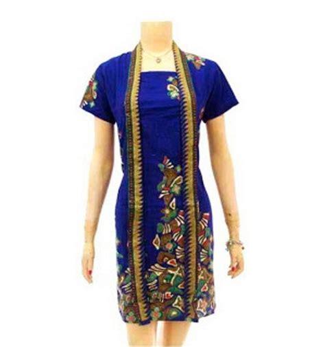 Dress Batik Modern Bisa Seragam Stok Banyak model baju batik wanita modern terbaru yang sedang trend