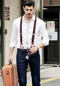 what hair styles suit braces 40 handsome men looks with suspenders