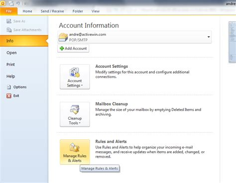 Out Of Office Reply Outlook 2010 by How To Set An Out Of Office Reply In Outlook 2010 And