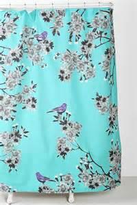 plum bow bird blossom shower curtain luvin