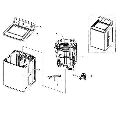 samsung washer parts samsung washer parts model wa5451anpxaa0002 sears partsdirect