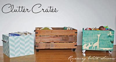 running with scissors vintage crate for magazine storage rock a bye bradbury fruit crate makeover
