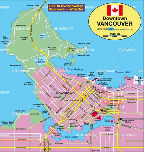 vancouver canada map map of vancouver canada map in the atlas of the world