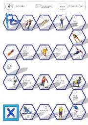 free printable winter board games english worksheets winter olympics a boardgame