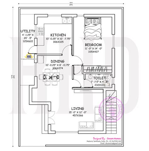 layout print lop small modern home with blueprint kerala home design and