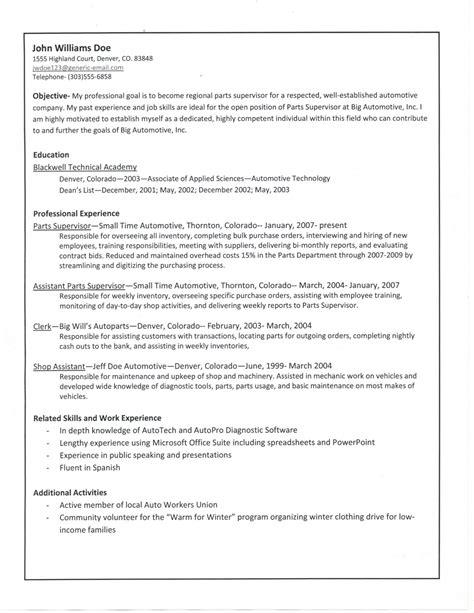 sample resume in ms word format free download sample resume