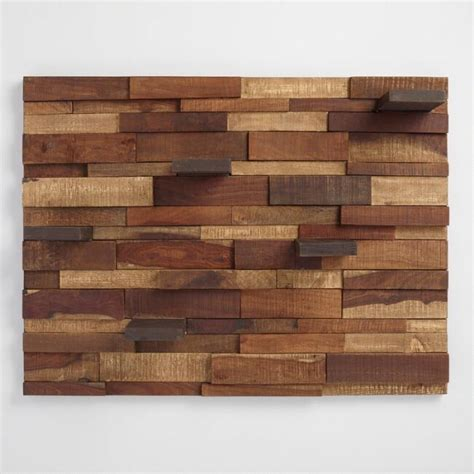 Mosaic wood panel with shelves world market