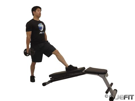 bench lunge dumbbell decline bench lunge exercise database jefit best android and iphone
