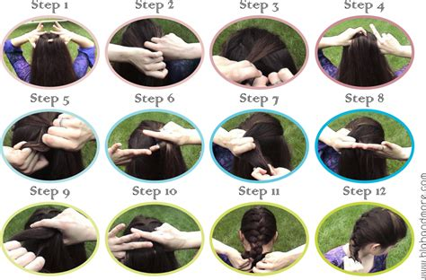 how to braid short hair step by step how to do a french braid step by step short hairstyle 2013