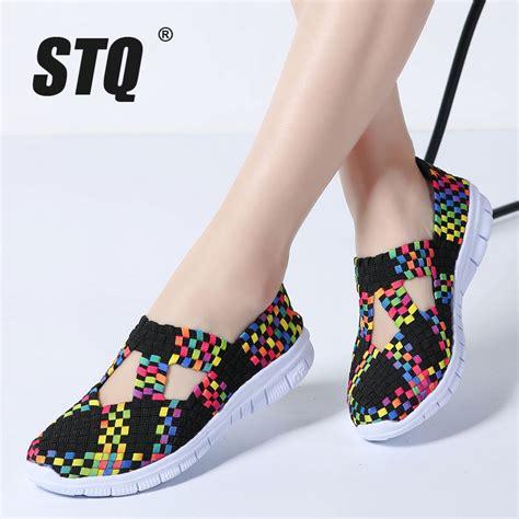 Flat Shoes 2018 Aamr aliexpress buy stq 2018 flats shoes woven shoes flat sneakers shoes