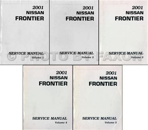 how to download repair manuals 2001 nissan frontier transmission control 2001 nissan frontier pickup repair shop manual set original