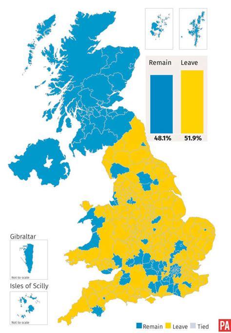 map uk eu referendum eu referendum result boris hails glorious brexit as