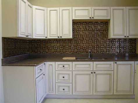 backsplash ideas glamorous faux metal backsplash tiles
