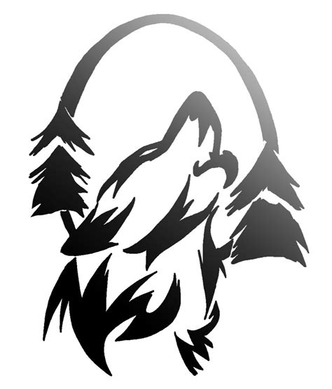 wolf silhouette tattoo howling wolf silhouette