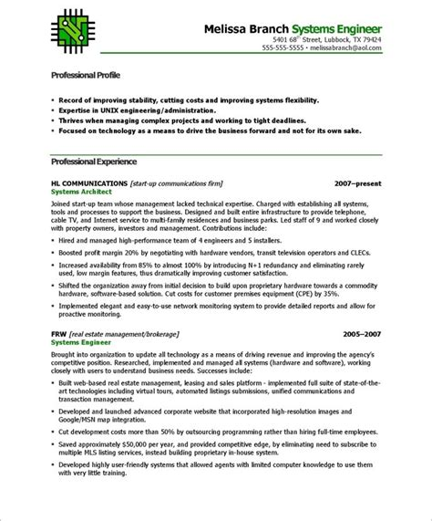 resume format for system engineer functional resume format for mechanical engineer
