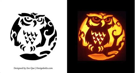 printable owl stencil pumpkin 10 free printable scary pumpkin carving patterns stencils