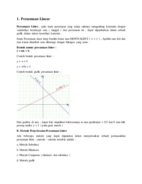 apa itu linear layout tugas bahan ajar mk matematika quot persamaan dan fungsi linear quot
