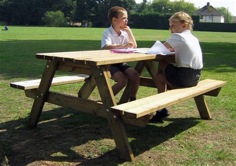 picnic benches for schools playground seating and picnic benches for schools
