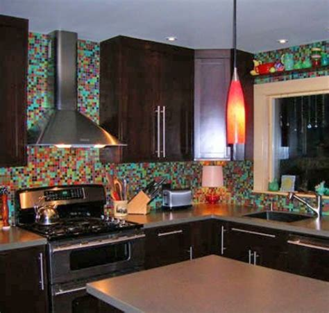 colored glass backsplash kitchen 36 colorful and original kitchen backsplash ideas digsdigs