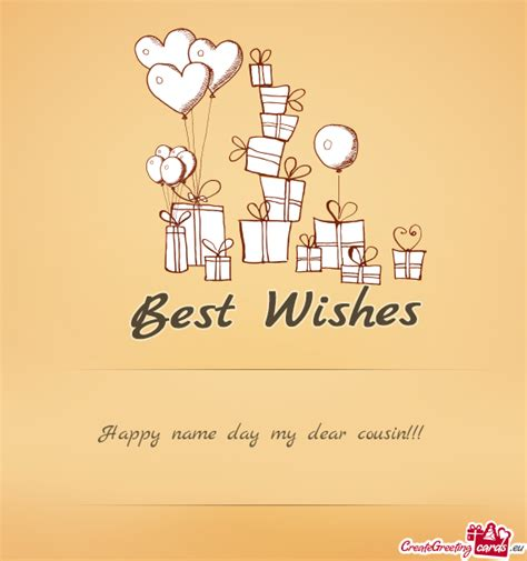 Happy name day my dear cousin - Free cards