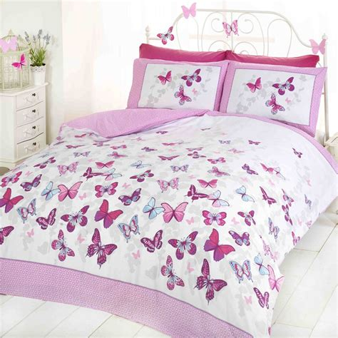butterfly flutter duvet covers girls bedroom bedding