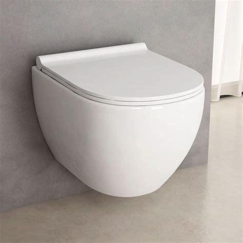 wc bidet suspendu wc suspendu rimless nino compact blanc 49 cm abattant slim