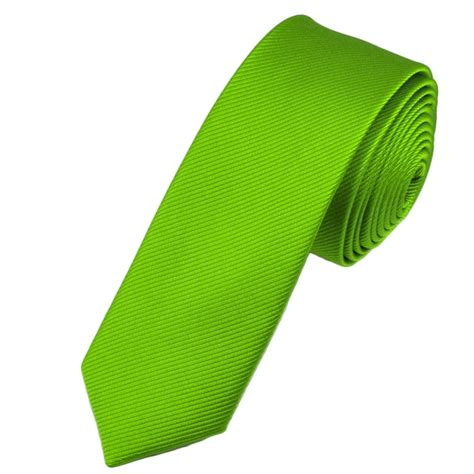 plain lime green silk tie from ties planet uk